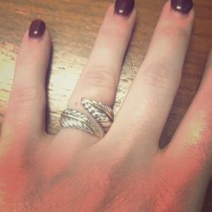 Tiffany's gold and silver swirl ring size 5,5